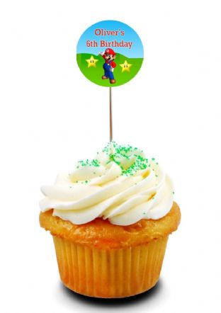 Super Mario Cupcake Picks/Toppers